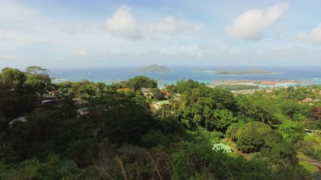 mahe : Panorama Of Mahe Island And Eden Island form Sans Souicis Viewpoint, Seychelles 1 Stock Footage
