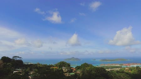 mahe : Panorama Of Mahe Island And Eden Island form Sans Souicis Viewpoint, Seychelles 2