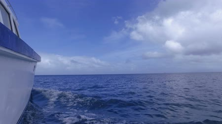 mahe : View Of The And The Indian Ocean And The Sky From The Boat, Seychelles 2 Stock Footage