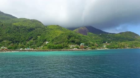 mahe : View Of The Mahe Island And The Ocean Of The Boat, Seychelles 1 Stock Footage