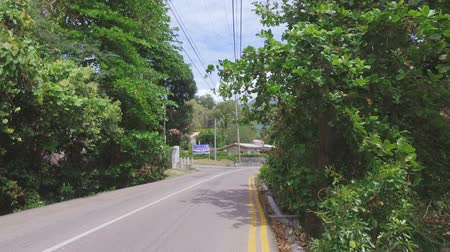 mahe : Walking On The Road Of Mahe Island, Seychelles 1 Stock Footage