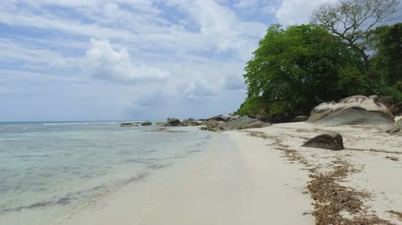mahe : Walking On The Beau Vallon Beach, Mahe Island, Seychelles 2 Stock Footage