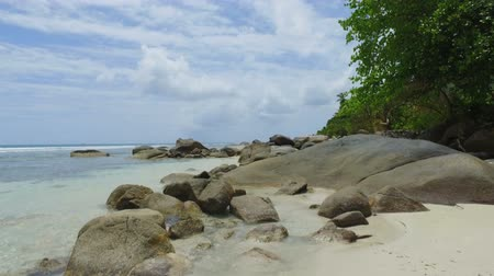 mahe : Walking Through The Rocks, Beau Vallon Beach, Mahe Island, Seychelles 3
