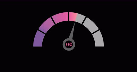 tachometer : 4K video. Speedometer, tachometer, indicator icons. Animation with changing traffic and Alpha matte