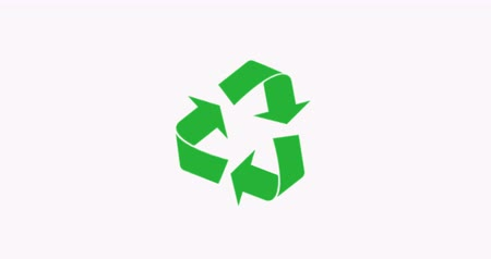 wijzer : Recycling symbool. Zero waste. 4K-video