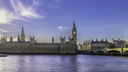 reino unido : Time lapse view of the House of Parliament and the Big Ben in London Vídeos