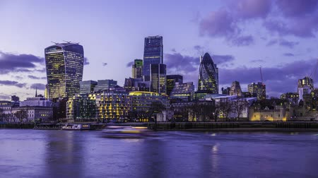 irodaház : Timelapse of the City of London during and after sunset