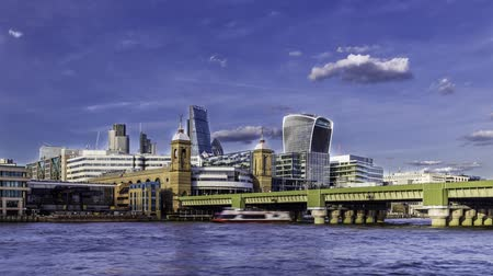 londra : Timelapse of City of London skyline  near Cannon street
