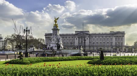 королева : Timelapse of Buckingham Palace London Стоковые видеозаписи