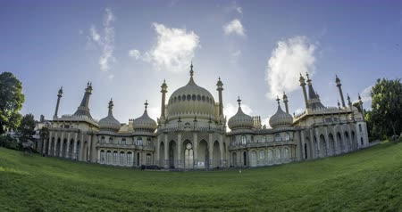 moghul : Timelapse view of the Brighton Royal pavilion, built for King George IV in indo-saracenic style