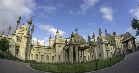 moghul : Time lapse view of the Brighton Royal pavilion, former royal residence of King George IV of England, formerly Prince Regent Stock Footage