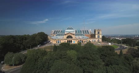 alexandra park : Aerial ascending view of Alexandra Palace in London