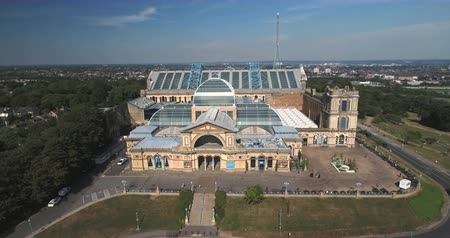 alexandra park : Aerial pull out view of Alexandra Palace in London