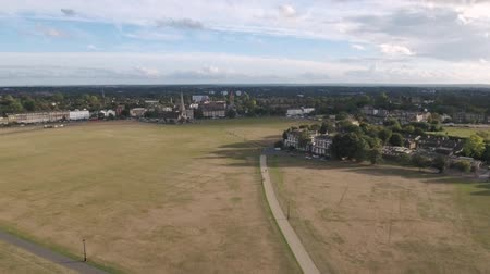 greenwich : Aerial pull out view of the village of Blackheath in South London