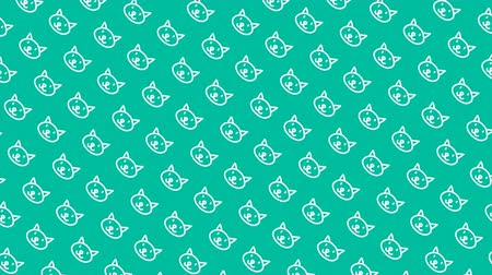 čmáranice : Animated pattern with hand drawn cats.