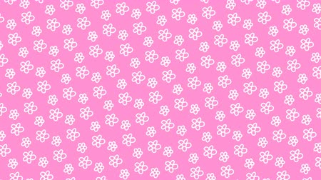 scrapbook : Animated pattern with hand drawn flowers.