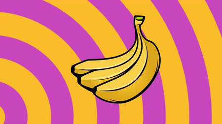 estasi : Animated background with bananas. Summer party design