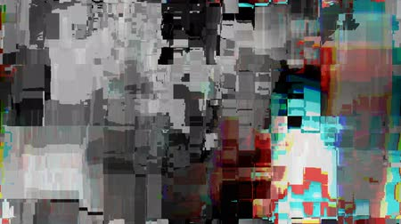 technologia : Digitally generated distorted television screen