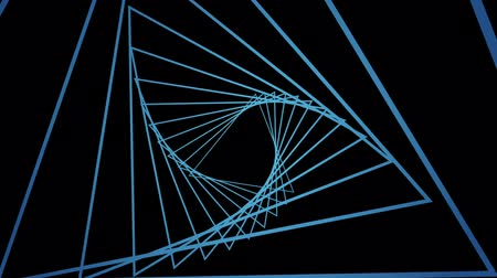 futuristický : Digital generated video of modern concentric lines