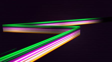forrado : Digitally generated of elegant colorful lines against lined background