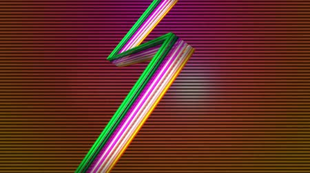 striptiz : Digitally generated of elegant colorful lines against lined background