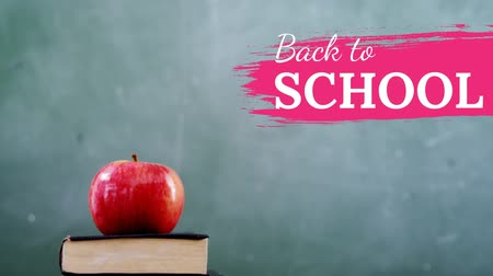 borracha : Digital generated video of back to school concept 4k Stock Footage