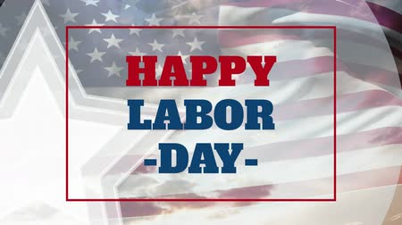 emek : Digital generated video of labor day concept 4k Stok Video