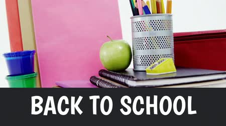 sharpener : Digital generated video of back to school concept 4k Stock Footage