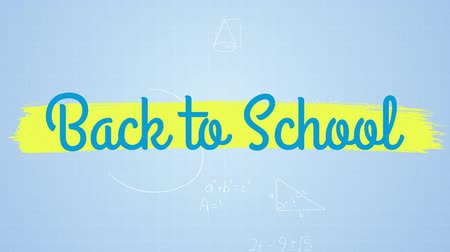 geometrical : Digital generated video of back to school concept 4k Stock Footage