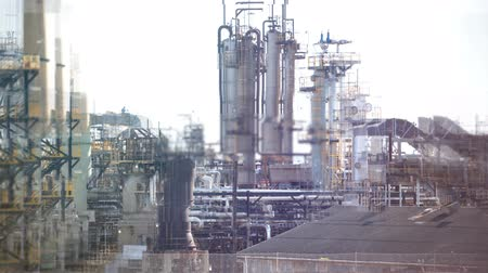 rafineri : Digitally generated video of modern industry plant 4k Stok Video