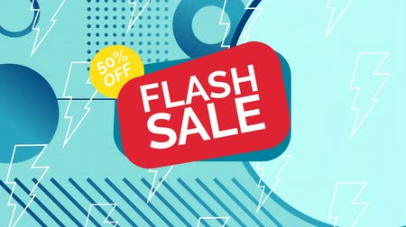 flash sale : Digitally generated video of flash sale concept 4k