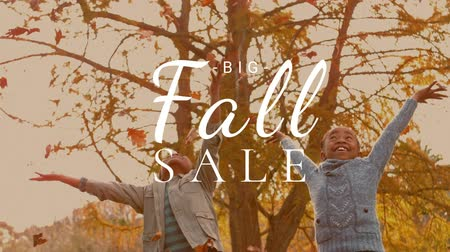 autumn discounts : Digitally generated video of fall sale concept 4k Stock Footage
