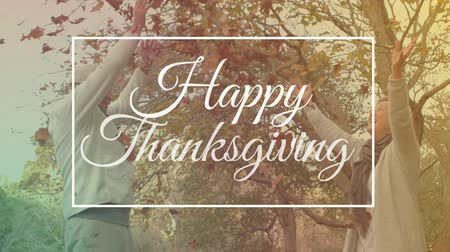 evli : Digital composition of thanksgiving concept 4k Stok Video