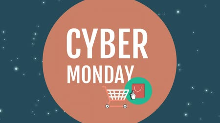 hétfő : Digitally generated of cyber Monday sign against digital screen 4k