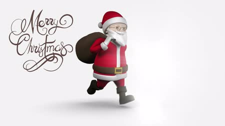 father christmas : Digital composite of Merry Christmas text with Santa