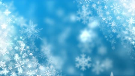 мишура : Digital composite of Snowflakes falling on blue background