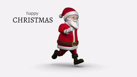 father christmas : Digital composite of Happy Christmas text and Santa