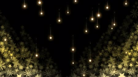 sheen : Digital composite of Falling stars and Christmas snowflakes