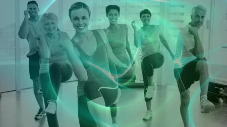 cercar : Digital composite of Fitness Composition Stock Footage
