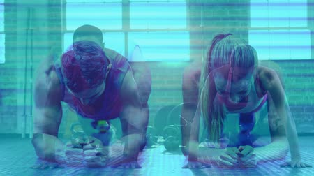 planking : Digital composite of Fitness Composition Stock Footage
