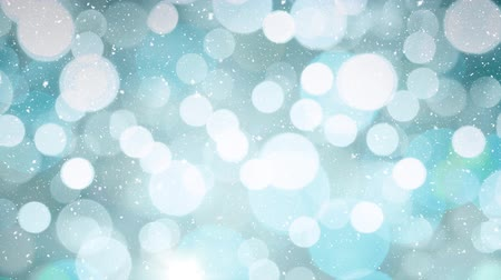 метель : Digital composite of Falling snow with bokeh light Christmas circles