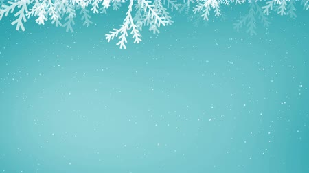 tempo de natal : Digitally generated animation of snowflakes against clear sky