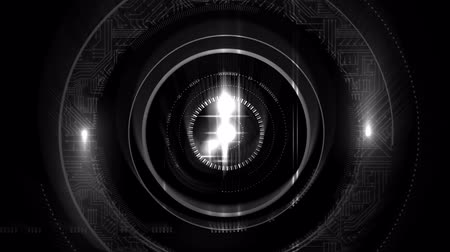 flashing : Digitally generated animation of a camera lense flashing Stock Footage