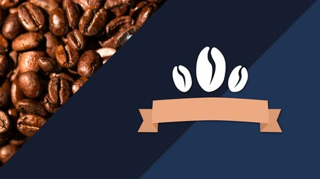 feijões : coffee bean banner logo against coffee beans in background