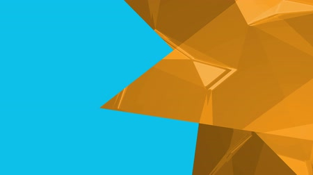 odráží : Digital animation of three golden triangles against blue background for copy space Dostupné videozáznamy