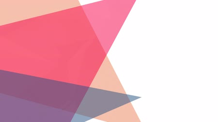 odráží : Digital animation of three pink, blue and yellow triangles against white background for copy space Dostupné videozáznamy