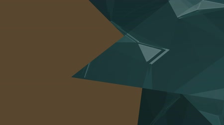 odráží : Digital animation of three dark blue bright triangles against brown background for copy space Dostupné videozáznamy