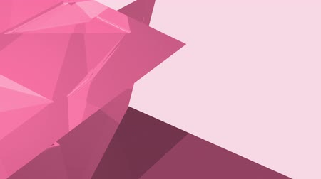 odráží : Pink diamond shape and other geometrical shapes against light pink background