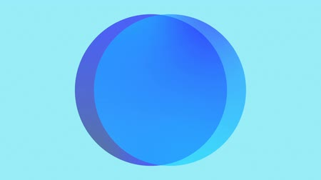 geometrical : two blue circles in motion against a blue background, different shades of blue