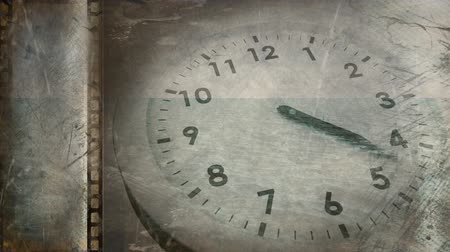 film leader : Old movie tape showing ticking clock